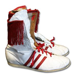 The shoes Norris wore to defeat Sugar Ray Leonard